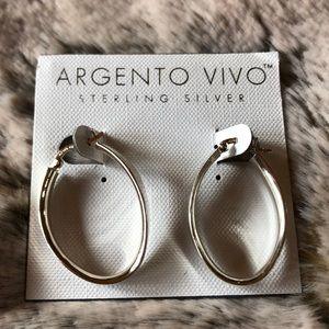 NWT Argento VIVO Sterling Silver Hoop Earrings.